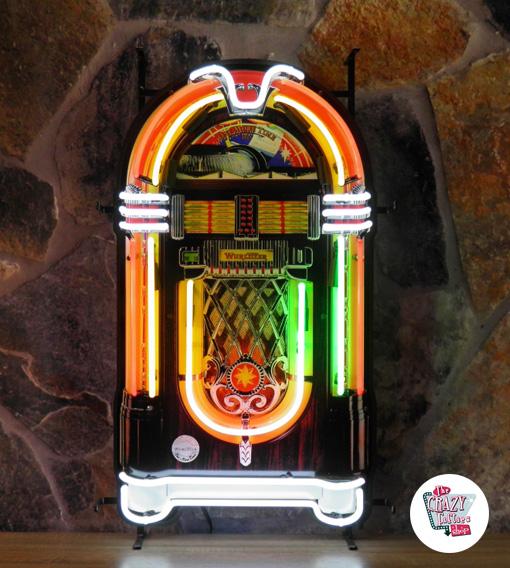 Fabriksnye Online salg Neon Retro Wurlitzer Jukebox »Thecrazyfifties.es YP-64
