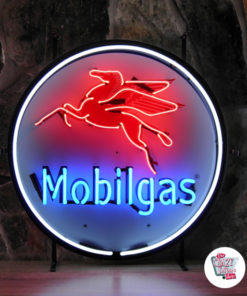 Neon Sign MobilGas