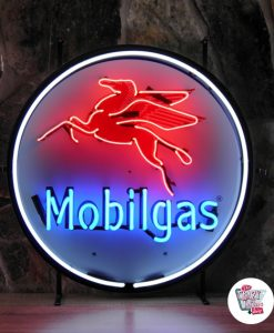 Retro Neon Sign MobilGas