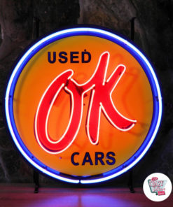 Neon Sign OK Used Cars