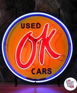 Retro Neon Sign OK Used Cars