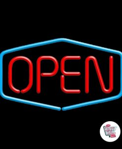 Retro Neon Sign Open S