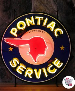 Retro Neon Sign Pontiac Service