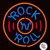 Cercle néon rock and roll