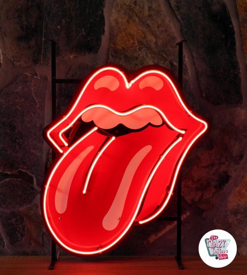 Retro Neon Rolling Stones