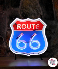 Neon Sign Route 66 sign with background