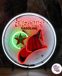 Retro Neon Sign Texaco FireChief