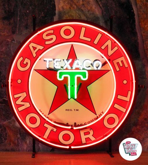 Neon Texaco-plakat