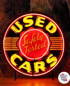 Retro Neon Sign Used Cars