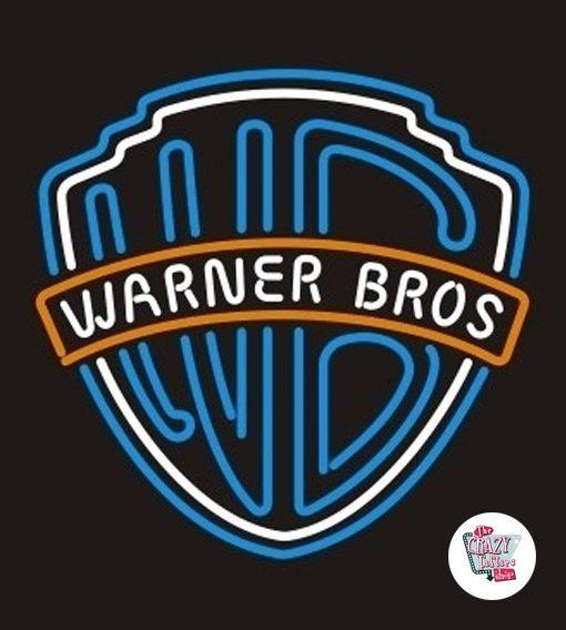 Neon Retro Warner Bros Sign
