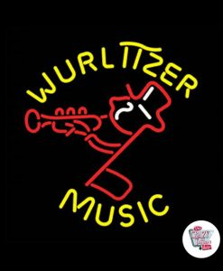 Retro Neon Sign Wurlitzer