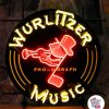 Neon Wurlitzer Musikplakat
