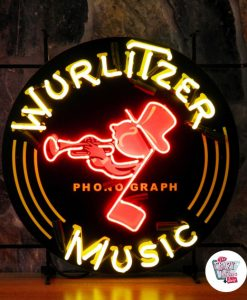 Retro Neon Sign Wurlitzer Music