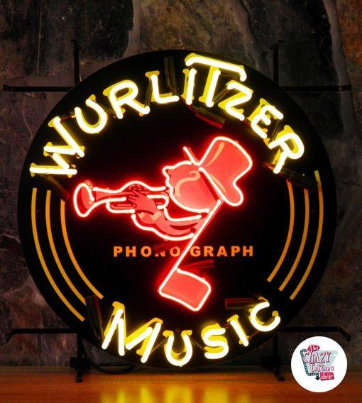 Neon Retro Wurlitzer Music