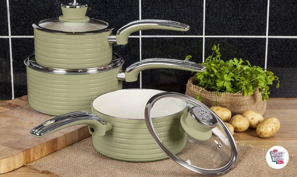 Set de Ollas y Sartenes de Cocina Vintage