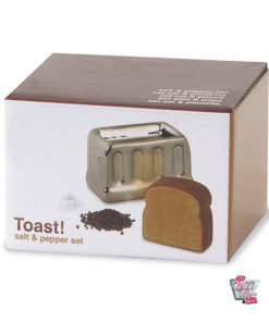 Salt og Pepper Shakers i brødrister med toast september