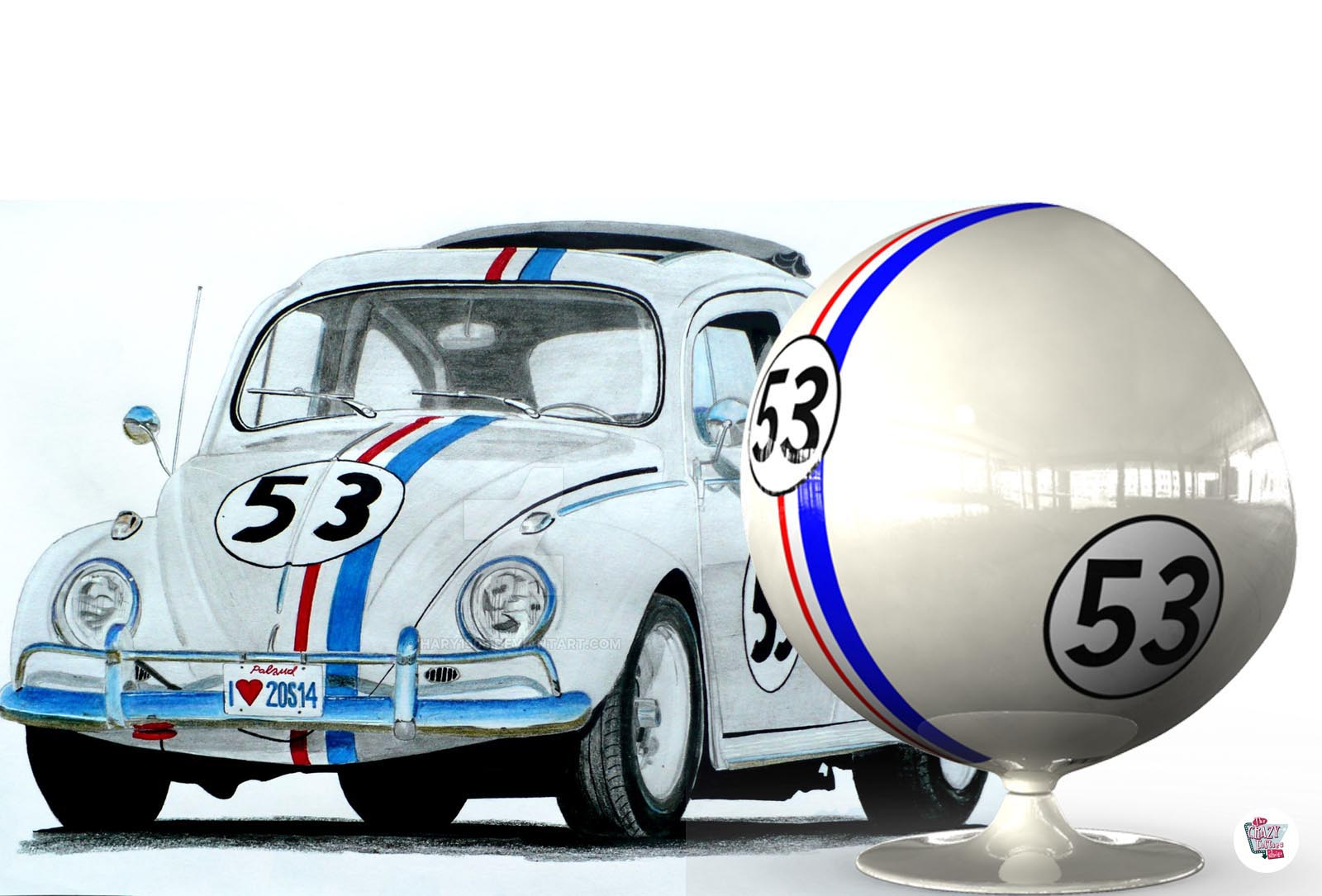 Ball chair Herbie corsa