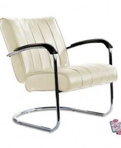 Retro Vintage armchair LC01LTD White