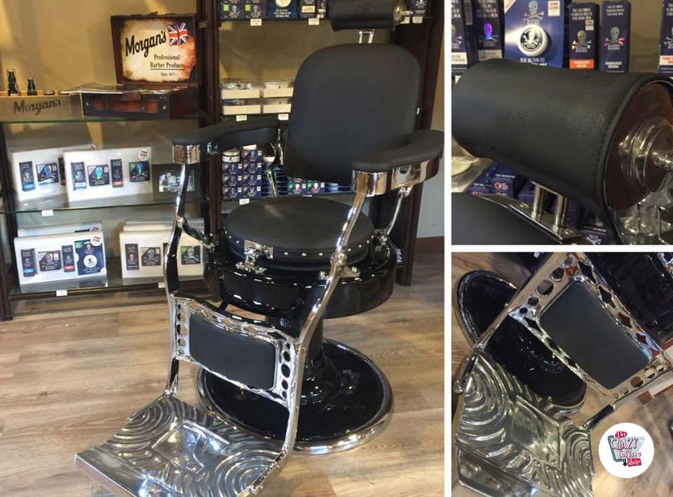 Comprare sedia da barbiere classic retro lux »thecrazyfifties.es