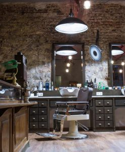 Sillón de Barbero Retro Elegance