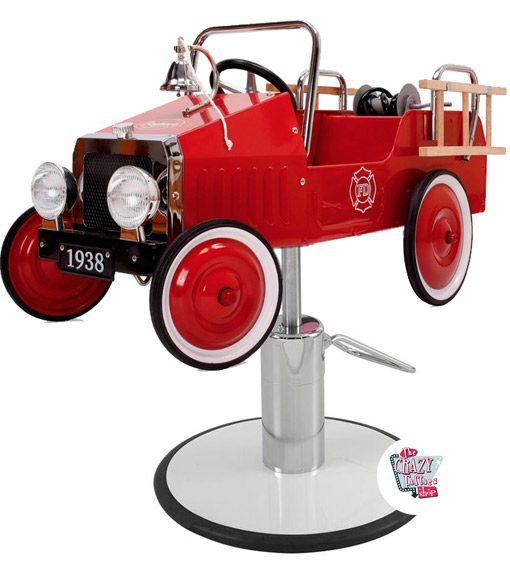 cadeira de barbeiro do carro de bombeiros