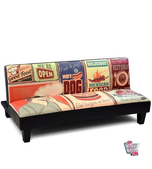 Acheter un canap lit retro pour seulement 299 for Acheter un sofa