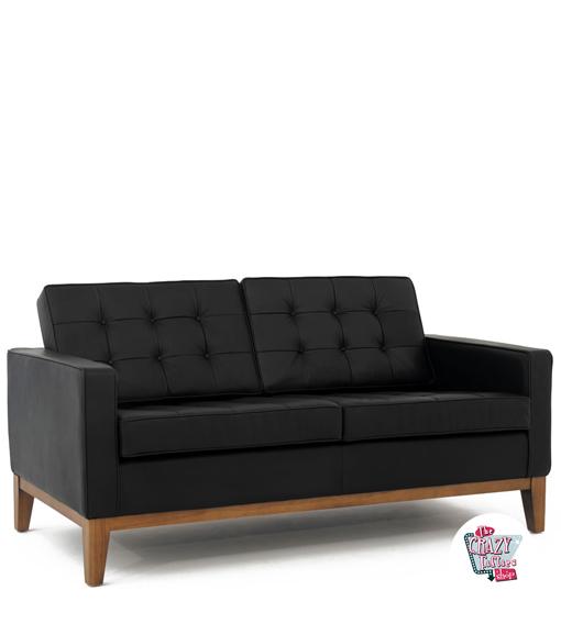 Sofá de couro Vintage Knoll