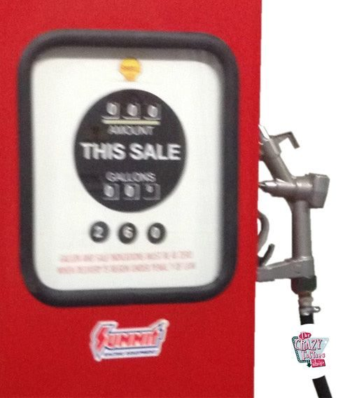 Retro Gasoline Pumpe 8 Kugel