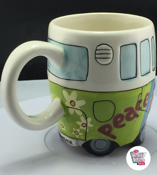 Coffee Cup Hippie Van VW T1