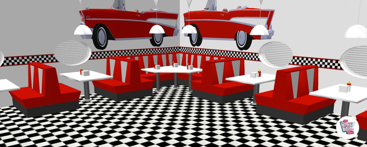 American Retro Diner Table TO30W