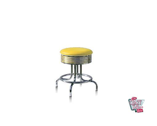 Taburete Retro Diner Americano BS2848 Amarillo