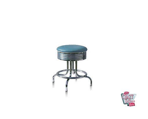Tabouret American Retro Diner Bleu BS2848