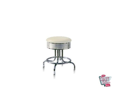 Stool Retro American Diner BS2848 Branco