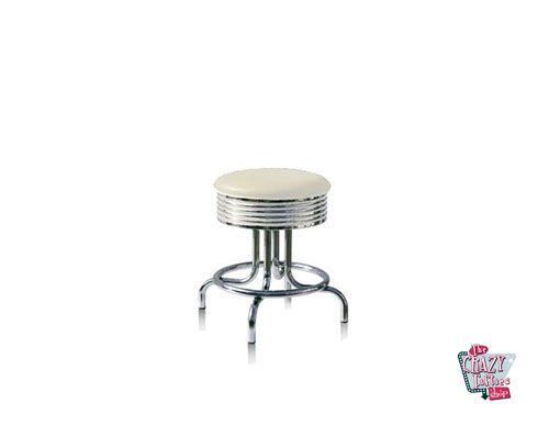 Tabouret American Retro Diner BS2848 blanc