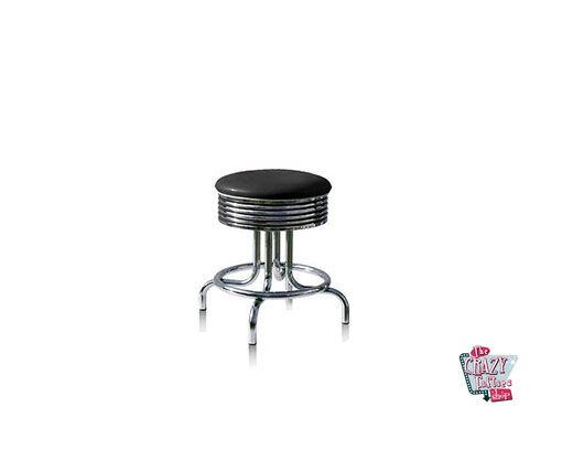Stool Retro American Diner Black BS2848