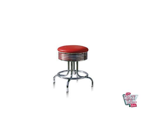 Stool Retro American Diner Red BS2848