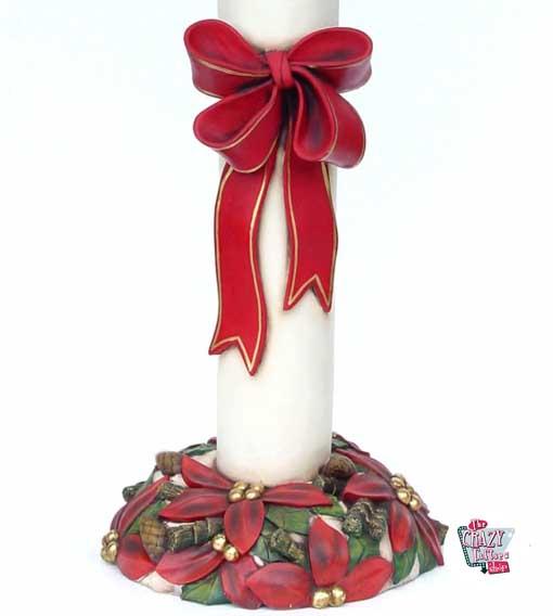 Vela de Navidad con Lazo