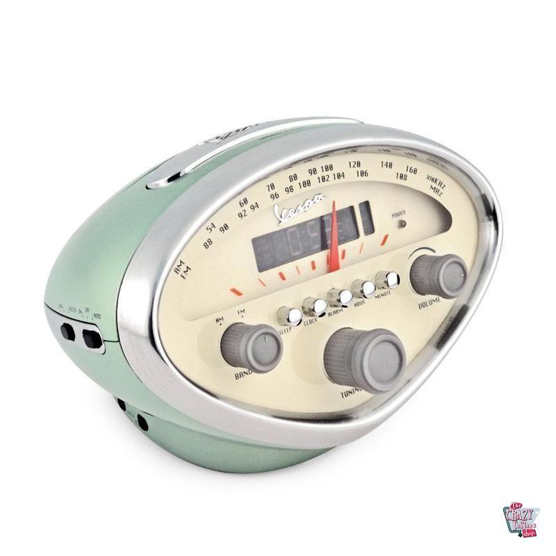 Reloj Radio Despertador Vespa Verde